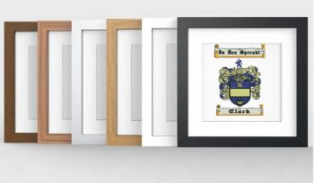 Family Crest/Coat of Arms Embroidered Photo Frame